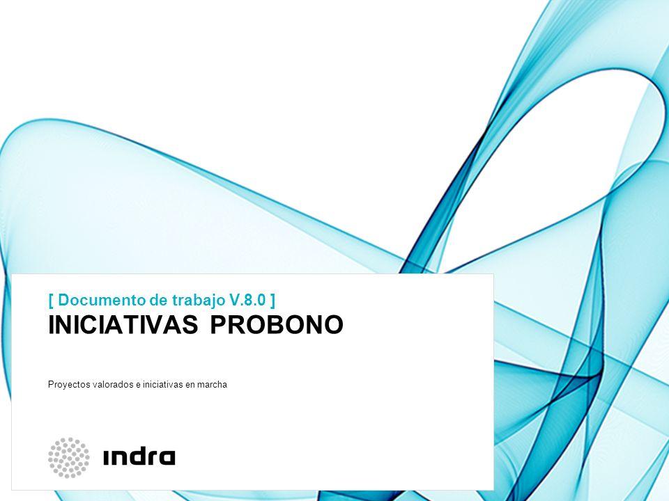 INICIATIVAS PROBONO [ Documento de trabajo V.8.0 ]